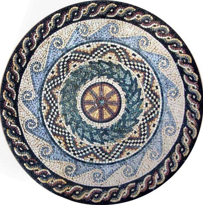 Juno Multi-Patterned Art Mosaic - Mosaic Patterns - Geometric-Mosaic - Patterns - Multi-Patterned-Art-Mosaic-Juno | #Mozaico