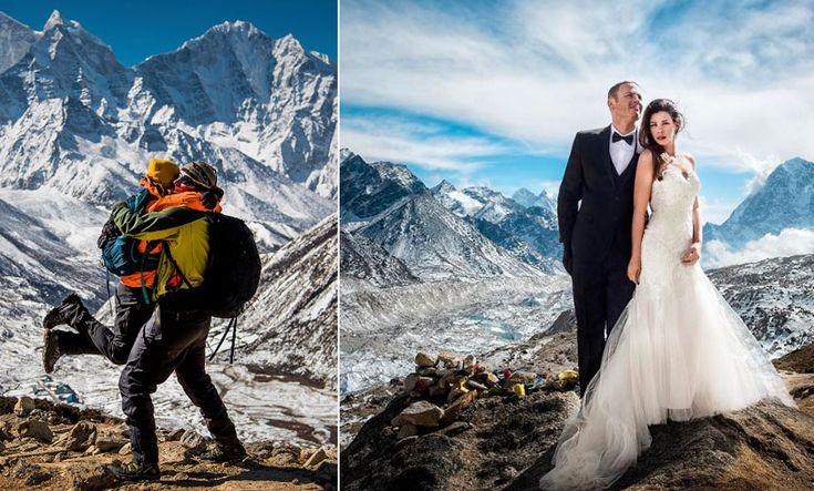 Bilderna som får dig att vilja gifta dig på Mount Everest