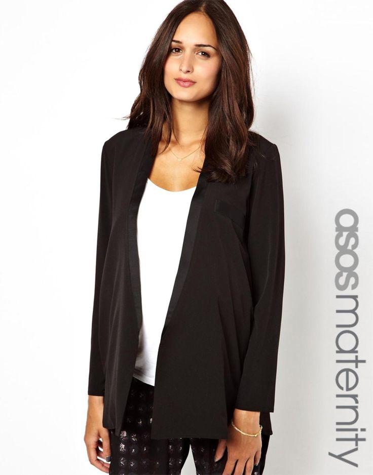 ASOS Maternity Blazer With Satin Lapel http://picvpic.com/women-coats-jackets-jackets-blazers/asos-maternity-blazer-with-satin-lapel#black