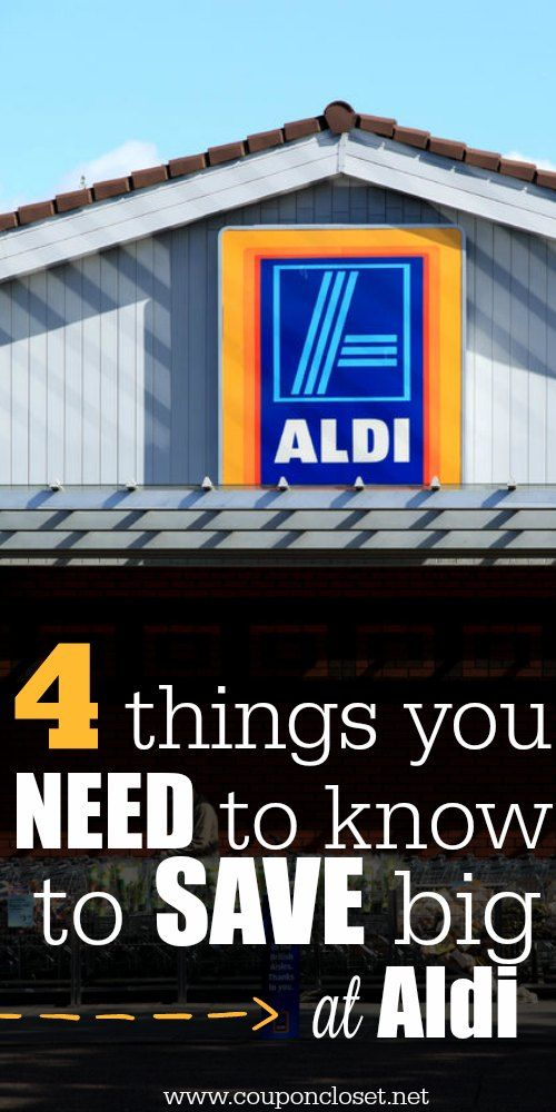 Aldi Foods - 4 Things you need to know before you shop and Save at Aldi. Don't miss out on these easy tips.