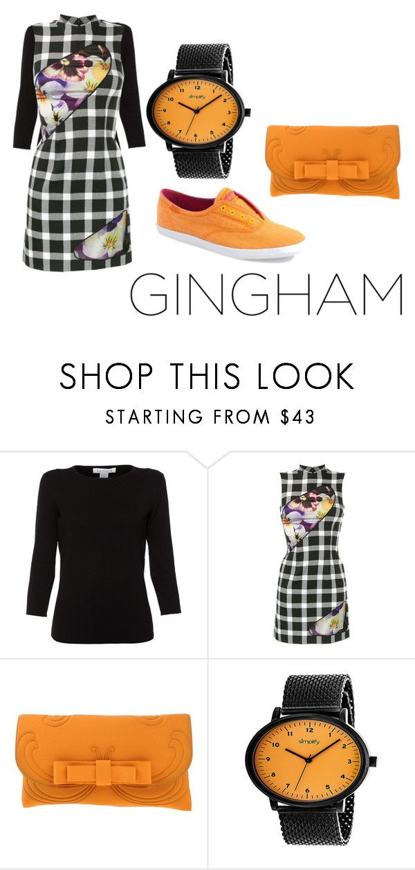 """Untitled #79"" by tuckerelle on Polyvore featuring Belford, Christopher Kane, La Fille Des Fleurs, Simplify and Keds"