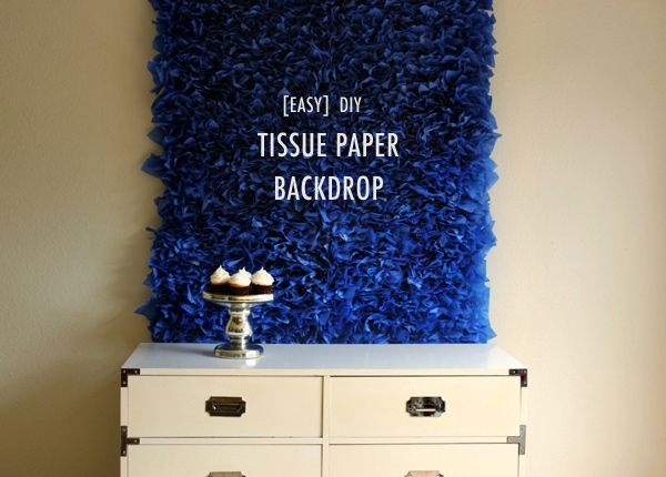 DIY tissue paper backdrop...customize to any size, color or pattern  {Hank + Hunt}