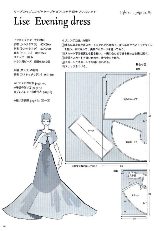 Lise Evening Dress Pattern - Page 2 of 3