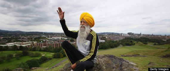 """Fauja Singh, who says he's """"older than 101,"""" will be hanging up his sneakers later this month, but he wouldn't do so before raising awareness for the rights and security of women, the Hindu reported. The seasoned racer, also fondly known as """"Turbaned Tornado,"""" partook in the """"Mini Marathon"""" in January organized by Punjanbi paper the Rozana Spokesman."""