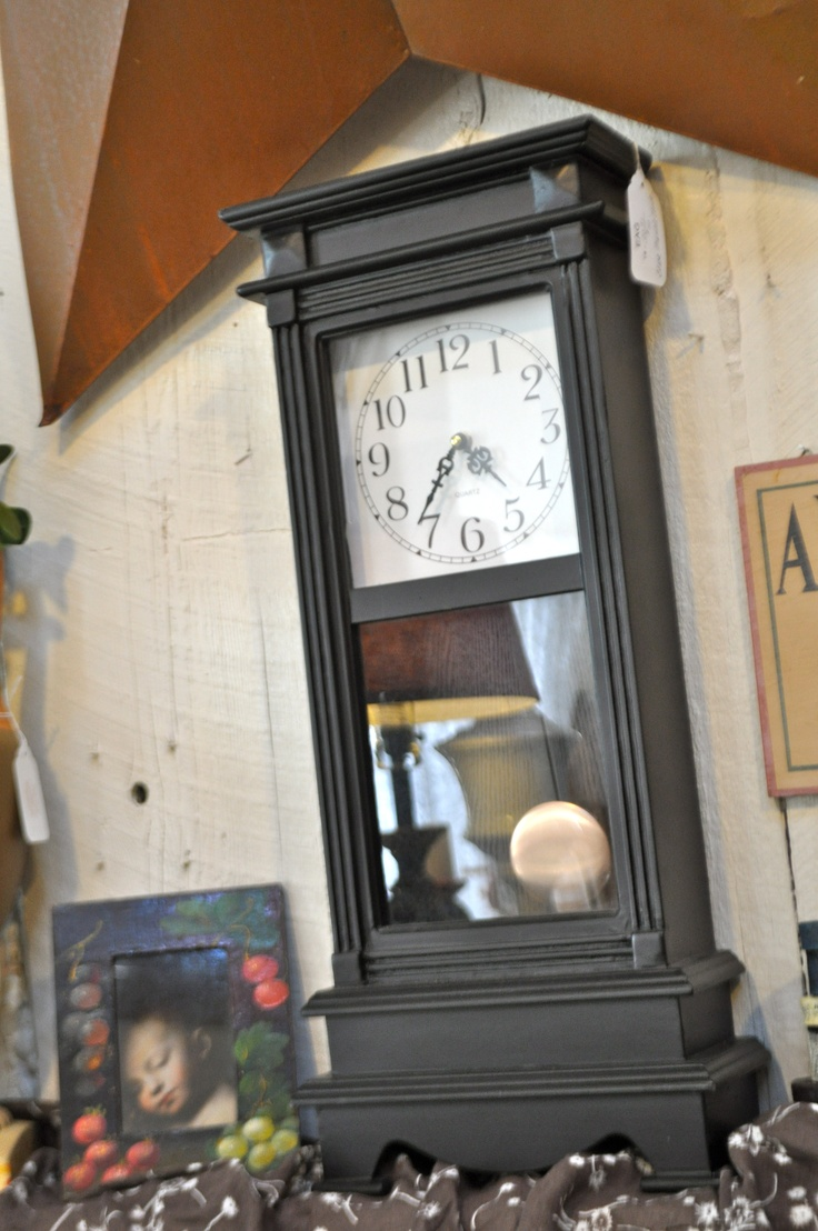 Tall Black Mantle Pendulum Clock - 40 dollarsBlack Mantles, Tall Clocks, Mantles Pendulum, Tall Black, Pendulum Clocks