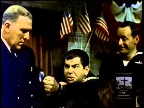 "Funny! First use of Armenian language in a Hollywood movie, actor Ross Bagdasarian Sr. speaks, flanked by William Bendix and Joey Bishop. Bagdarsarian Sr. later created Alvin and the Chipmunks. ""Sarma, kufta, dolma, yalanchi."" :)"