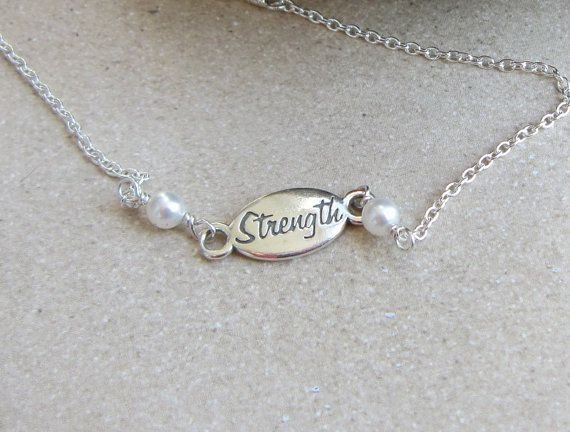Strength Bracelet in Sterling Silver by DeniseJewelryDesigns, $19.00