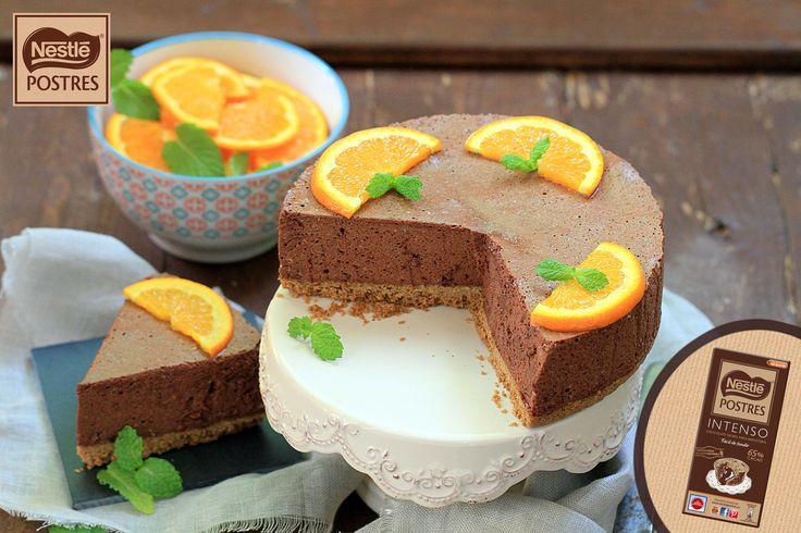 Tarta mousse de chocolate y naranja