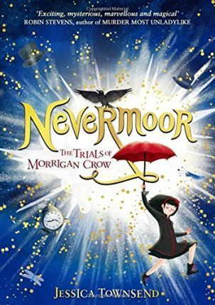 Nevermoor – the first book in the Trials of Morrigan Crow – is by Jessica Townsend, abother Australian author – and it has been touted as the new Harry Potter, with good reason, and it's a lovely and fun magical tale about a girl who is cursed to die on her eleventh birthday, who discovers she can escape her fate by competing in the trials of the Wundrous Society. This edition has a lovely hidden illustration under the cover – both sprinkled with gold – and pretty illustrated chapter…