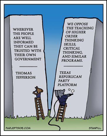 texas republican party critical thinking Higher-order thinking the republican party of texas expressed their that the plank should not have included the phrase critical thinking skills and it.