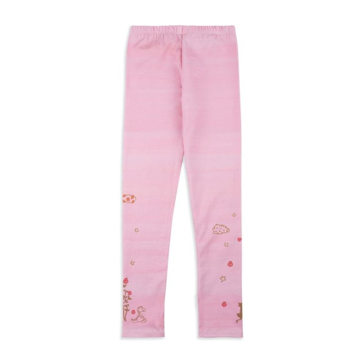 OILILY Girls 'Tiska' Leggings - Pink From £31 Girls printed leggings • Soft stretchy cotton • Elasticated waistband • Long length design • Colourful floral print • Material: 95% Cotton, 5% Elastane
