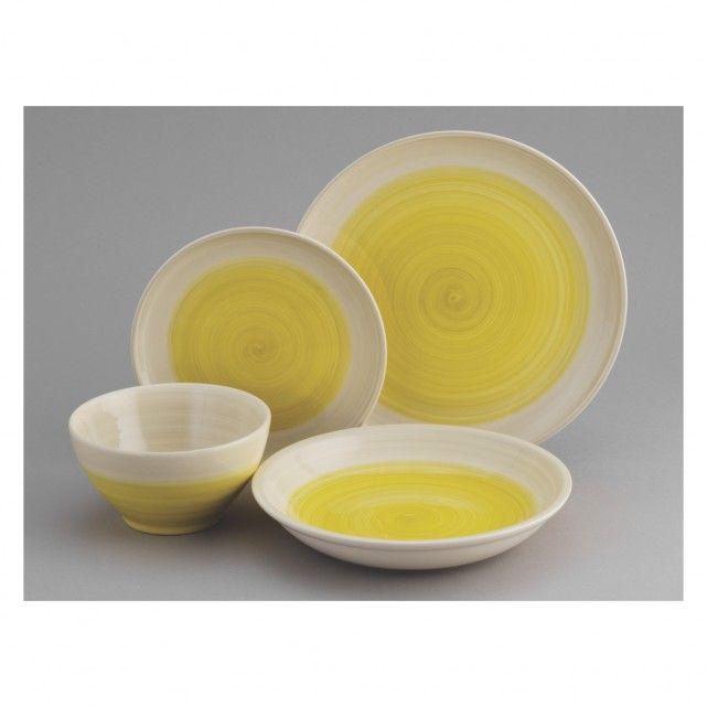 ATKINSON Yellow dinner plate 27cm | Buy now at Habitat UK