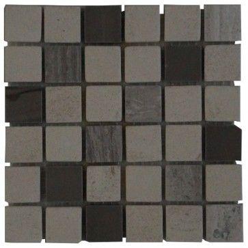 Mozaïek tegel marmer 15x15 cm | Marmersoort: Yawood, Light White, French Wood | Kleur: Natuurkleur / lichtgrijs / beige / creme / wit | Geschikt voor badkamer, toilet, douche, keuken, woonkamer, slaapkamer, hal | Topmozaïek24