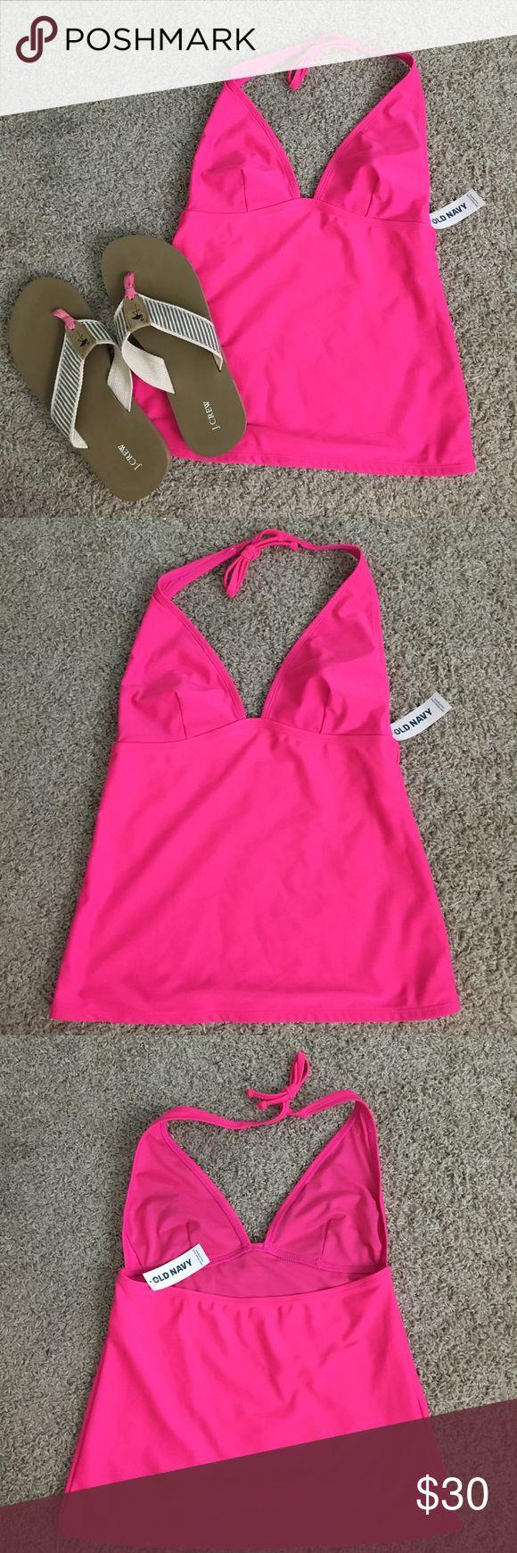NWT Hot pink tankini Brand new. Never worn. Old Navy Swim