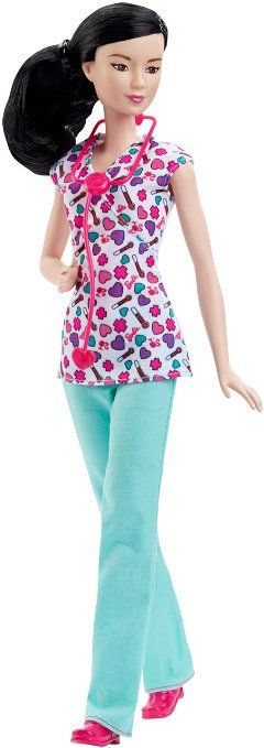Amazon.com: Barbie Careers Nurse Doll, Asian: Toys & Games