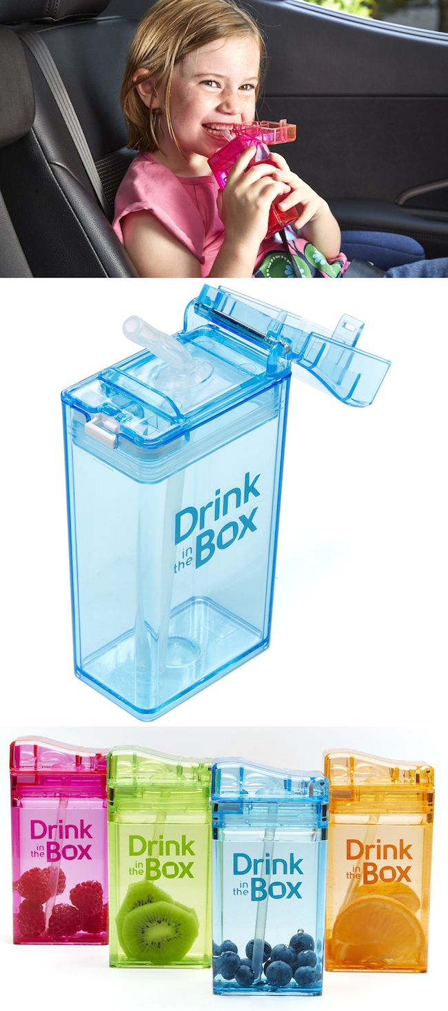 A healthy, reusable drink box to replace disposable juice boxes! They're practically indestructible by kids. So neat!