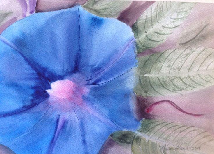 Watercolor, Flower of the day 2013, Olavi Alanko