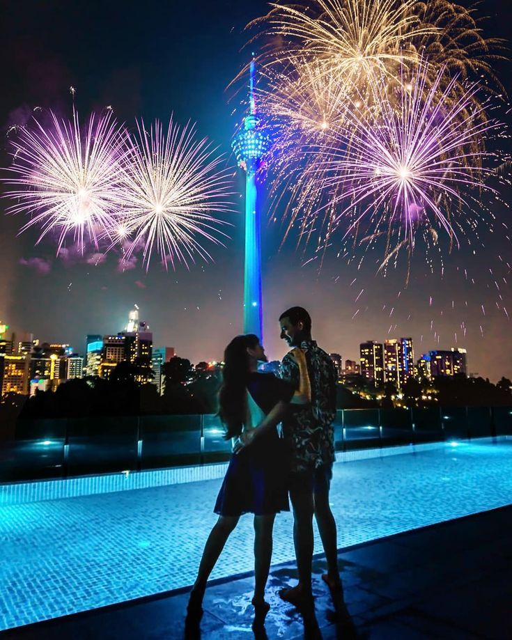 New Year S Eve At Kl Tower Kuala Lumpur Malaysia Travel Couple Sue And Renesh Www Travelinoureyes Com Travel Couple Malaysia Travel Travel Getaway