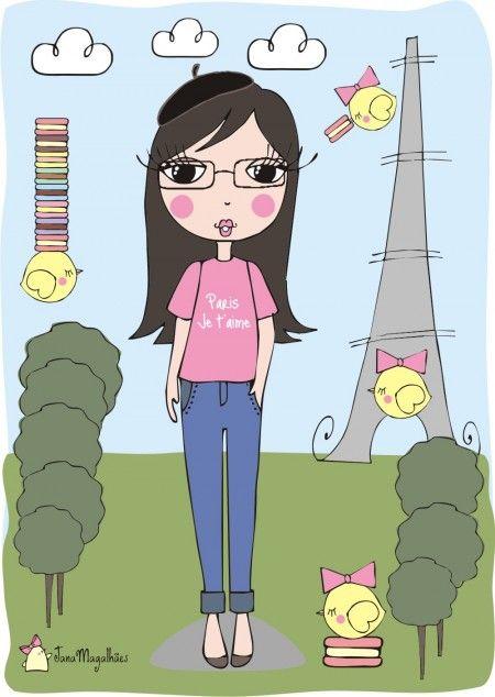 Jana Magalh 227 Es Tag Torre Eifel Ilustrando Pinterest