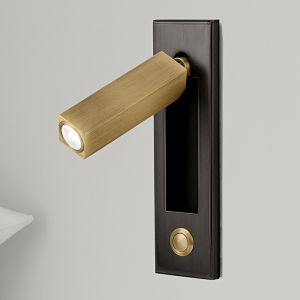 Chelsom Lighting | Reading lights with on/off button or sensor. Folds into slot when not in use