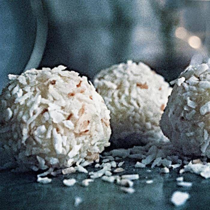 Snöbollar med vit choklad och lime