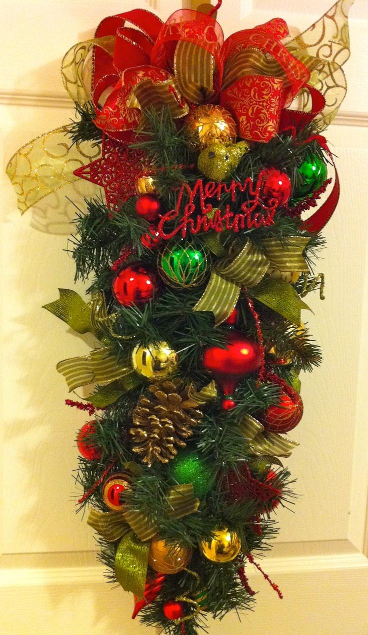 Christmas Door Swag.... audjiefied