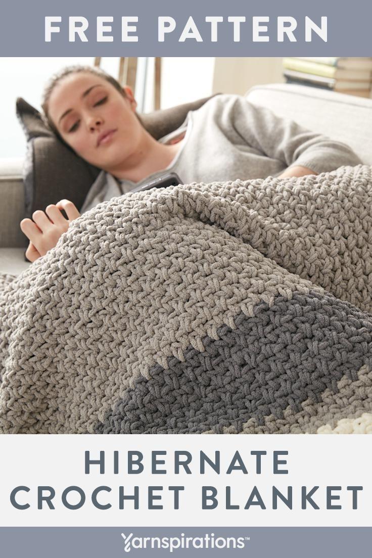 A Simple Three Row Crochet Pattern Repeat And Super Bulky Bernat Blanket Yarn Makes It Crochet Blanket Pattern Easy Easy Crochet Blanket Chunky Crochet Blanket