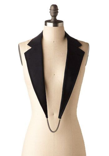 Different take on the collar.  ~ I see this with a cute little bow at the bottom and a white strapless tube top ~ SG <3