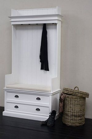 Coat Bench With Drawers and Cushion - £839.00 - Hicks and Hicks