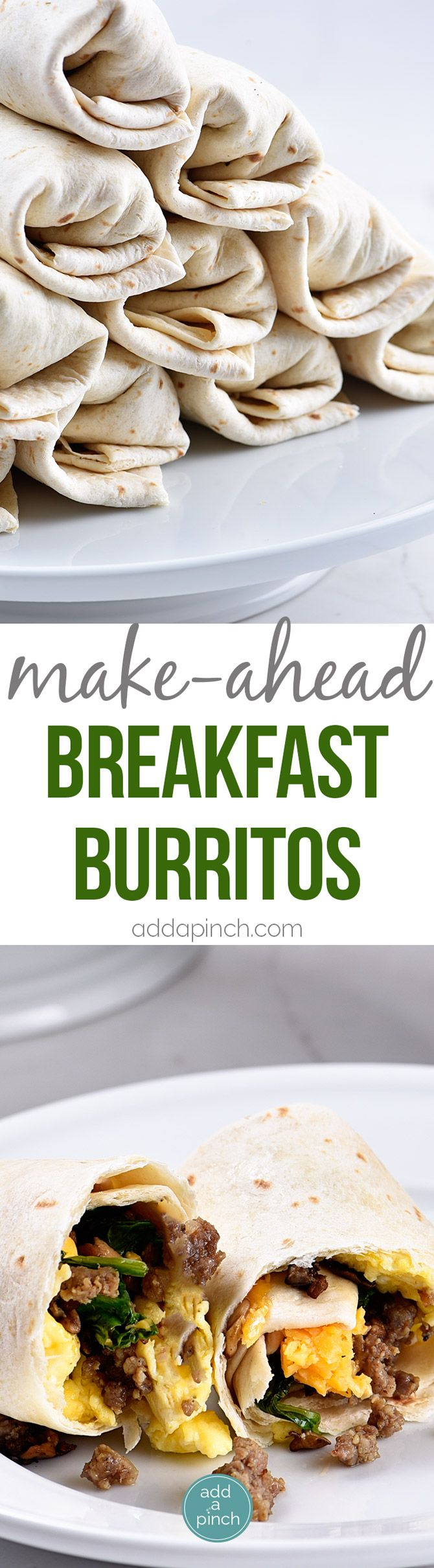 Make-Ahead Breakfast Burritos Recipe - Stock your freezer with these easy…