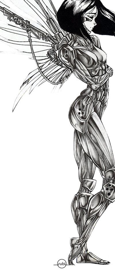 battle angel alita by rubitutubi.deviantart.com on @DeviantArt