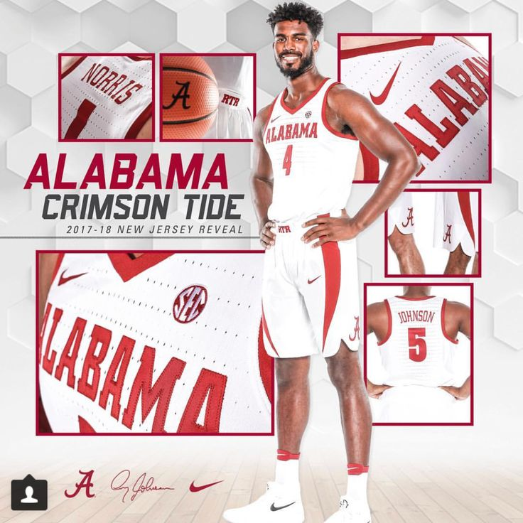 Alabama Basketball new jersey reveal!  Graphic from @alabamambb on Instagram | #Alabama #RollTide #Bama #BuiltByBama #RTR #CrimsonTide #RammerJammer #BuckleUp