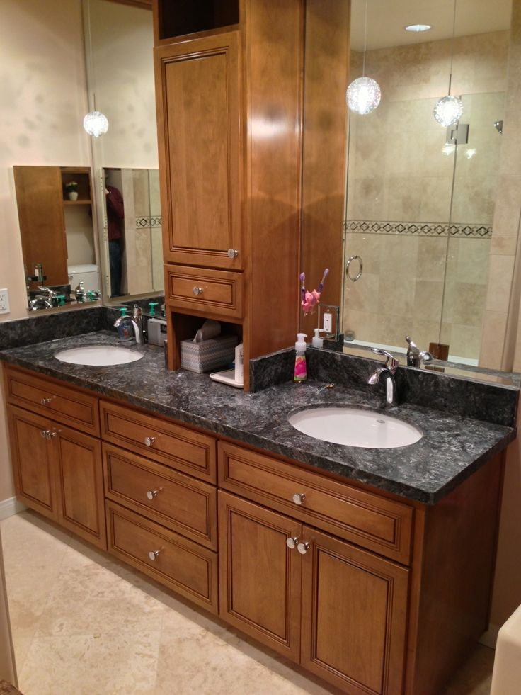 After picture custom cabinets with metallica granite for A 1 custom cabinets