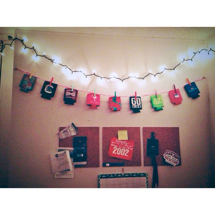 Hanging Koozies With Clothespins Dorm Ideas College