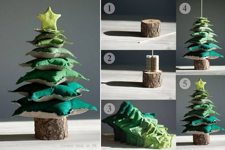 Star Pillow Tower Christmas Tree .  Free template--> http://wonderfuldiy.com/wonderful-diy-star-pillow-tower-christmas-tree/
