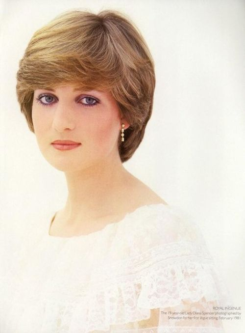 """19 year old Lady Diana Spencer photographed by Snowdon for her first Vogue sitting. February 1981"""