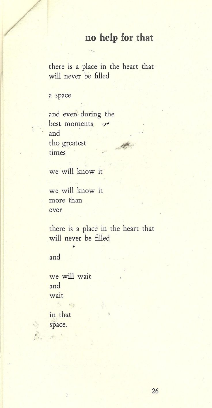 No Help For That | Charles Bukowski