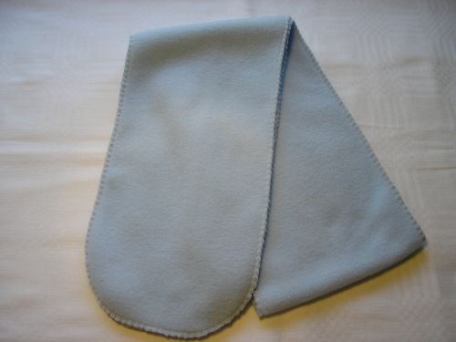 Child's Powder Blue Fleece Scarf