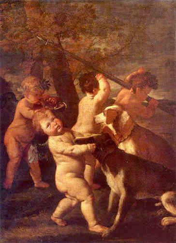 Caza de los ángeles - Nicolas Poussin
