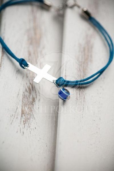 Μαρτυρικά βάπτισης βραχιόλι μπλε