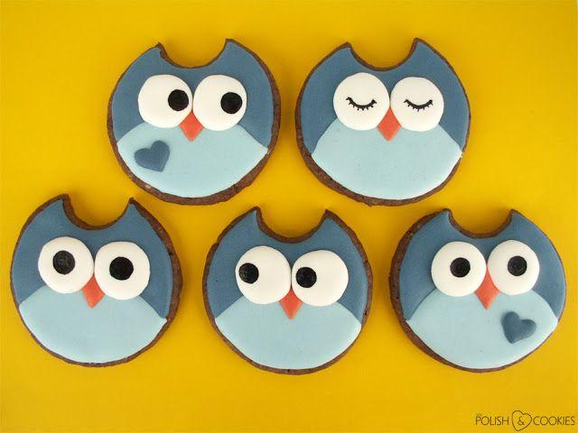 Owl Cookies - TUTORIAL - from http://polishcookies.blogspot.com/