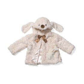 Auggie Doggie Coat with Chocolate Ribbon Bone with Rattle Inside Pocket. $20.93