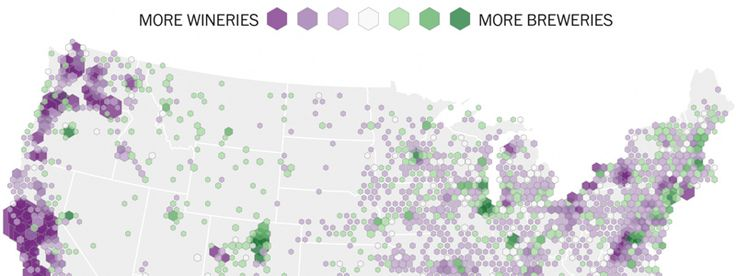 An Incredibly Close Look At Where Wine & Beer Are Made In America: MAPS | VinePair