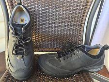 CAT Caterpillar Brode Стальные Toe Рабочая обувь.  Размер 9,5 Широкий Ширина Черная кожа
