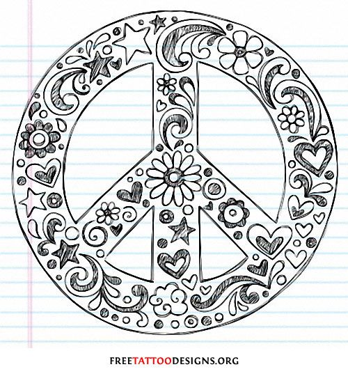 55 Best Peace Sign Tattoo Designs: 52 Best Peace Sign Tattoos Images On Pinterest