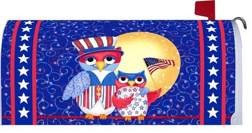 Mailbox Covers  Patriotic Owls 1545MM Magnetic Mailbox Cover Wrap Patio Makeover <3 This is an Amazon Associate's Pin. Details on product can be viewed on the website by clicking the image.