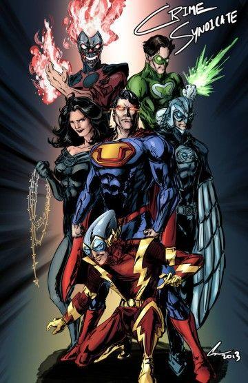 Crime Syndicate of Amerika - Ultra-Man, Super Woman, Owlman, Johnny Quick…