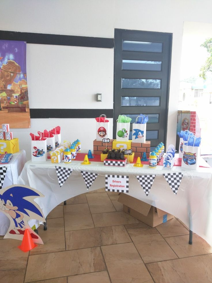 Mario & Sonic gift bag Birthday Party