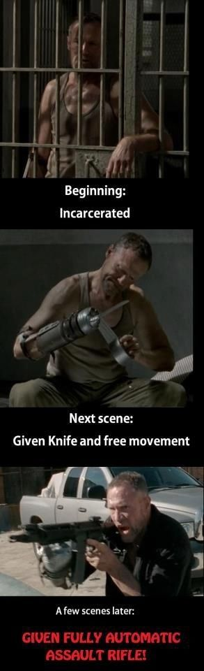 "How everyone suddenly trusted Merle: | The 33 Most Frustrating Things About ""The Walking Dead"""