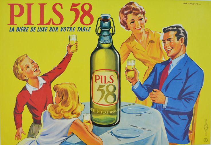 Pils 58, la bière de luxe sur votre table - 1950's - (Emmanuel Gaillard) -